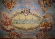 freska s původním projektem přestavby zámku